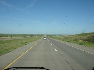 On the road towards KCI: Interstate 70